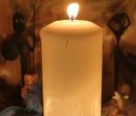 Свечи, использовавшиеся в ритуале Бригид.