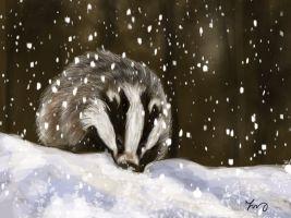 snow_badger_by_dinglidale-d9auq7f